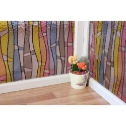 Sea Of Color - Static Cling Decorative Window Film - 35 In By 1 Foot : Sold In One Continuous Roll By The Foot