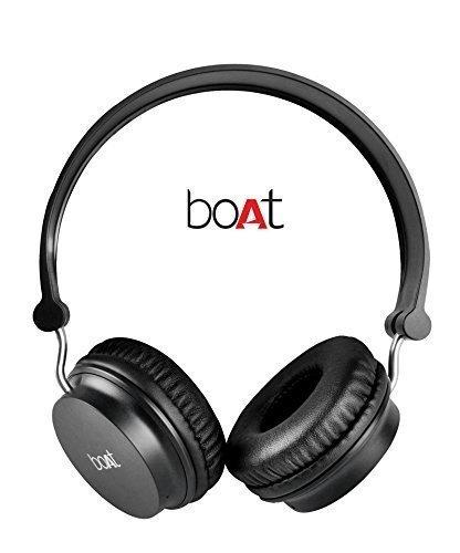 Boat Rockerz 400 On-Ear Bluetooth Headphone With Mic (Black)