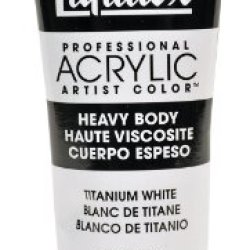 Liquitex Professional Heavy Body Acrylic Paint 4.65-Oz Tube, Titanium White