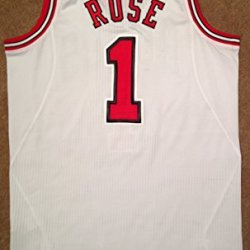 Derrick Rose Meigray Game Used Jersey 2010-2011 Home Chicago Bulls Mvp Year 20Th Anniversary Patch
