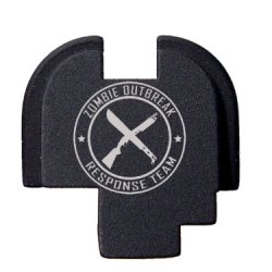 Zombie Outbreak Response Team W Rifle Machete - Engraved Rear Slide Cover Plate For Springfield Armory Xds 9Mm .45Acp By Ndz Performance
