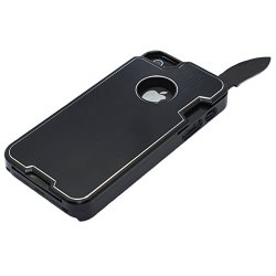 Anko Multi-Functional Metal Protective Phone Case With A Small Swiss Army Knife For Apple Iphone 5 5S (Black)