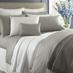 Sferra Simply Celeste 88 X 92 Full/Queen Duvet Cover - Grey,Ivory,White