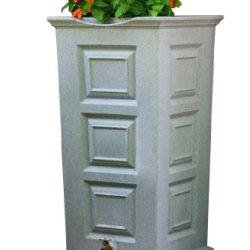 Good Ideas Sv-Rs-Lig Savannah Rain Barrel 55-Gallon, Light Granite