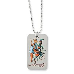 Nurse & Knife Dog Tag Necklace, 24 Inch, Jewelry Chains And Necklaces For Women
