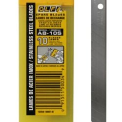 Olfa 9Mm Stainless Steel Snap-Off Blades - 10/Pk