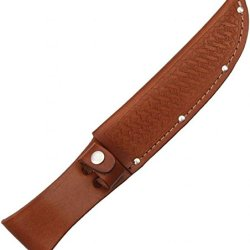Sheath Fixed Knife Sheath, Brown Basketweave Leather,Fits Up To 6In Blade Sh1135 / Sh210 Brown