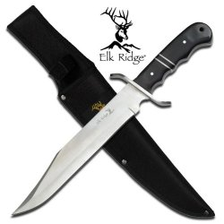 "Er-256 Full Tang Elk Iyyyk Ridge Hunting Bowie Knife With Sheath 14"" Overall Ayeuiu56 Hlbv23Rt Elk Ridge Bowie Knife. 14"" Overall Fixed Blade Knife440 Stainless Steel Blade Red & H8Ehn9Hv Black N8Y4Nq4E Wood Handle Includes Nylon Pouch"