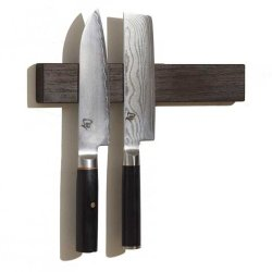 Wenge M.O.C. Board 12 Inch Wood Magnetic Knife Holder Or Magnetic Knife Strip