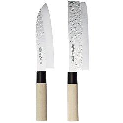 Magoroku 2 Japanese Knives Santoku Nakiri