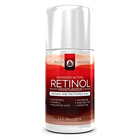 Harness the extraordinary power of retinol with InstaNatural's Advanced Action Retinol Moisturizer… perfect for night and day. InstaNatural's restorative cream contains a robust formula of handpicked ingredients designed to improve your complexion. R...