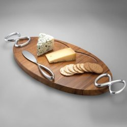 Nambe Infinity Serving Cheese Board With Knife