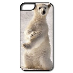 Trendy Protection Young Polar Bear Cell Phone 5 Shell