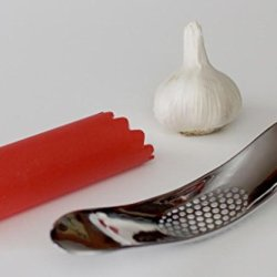Garlic Press, Mincer, Crusher, Free Peeler Included, Free Cookbook