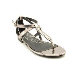 Kelsi Dagger Women'S Kimmyleather Sandal,Pewter,9.5 M Us