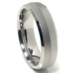 Titanium 7Mm Satin Finish Knife Edge Wedding Band Ring Sz 11.0