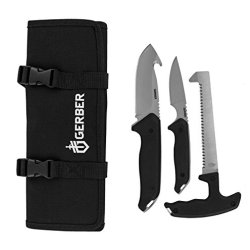 Gerber 31-002683 Moment Field Dress Kit Iii, Gut Hook Knife, Caping Knife, And Saw, Includes Tool Roll