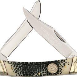 Colt Buckshot Bone Moose Folding Knife,Stainless Clip And Modified Spey Blade, Kc016 Buckshot Bone