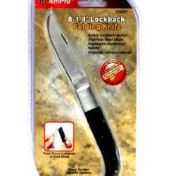 Ampro T23291 8-1/4-Inch Lockback Foldable Knife