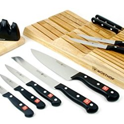 Wusthof Knives Exclusive Gourmet 12 Piece Indrawer Knife Set W/ Knife Sharpener