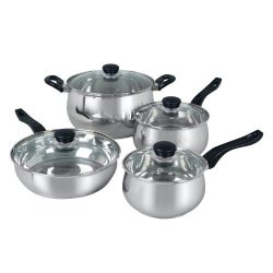 Oster Rametto 8 Pc. Stainless Steel Cookware Set