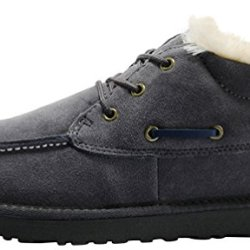 Rock Me Men'S Thicker Wool Ankle Lace Up Snow Boots Baken Ii(10 D(M) Us, Grey)
