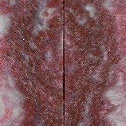 """Cherry Ohio State Inlace Acryl #44 2 Pc Knife Scale 3/8""""X1 1/2""""X6"""" 001"""