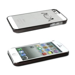 Javoedge Plate Chrome Back Cover For The Apple Iphone 5S / 5 (Black)