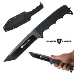 Browning 115Bl Black Label Stone Cold Tanto G-10 Knife With Tactical Fixed Blade 320115Bl