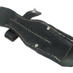 Nuoya001 New Wwii German Army K 98 Kar 98 Bayonet Frog Leather Black Replica