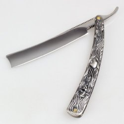 Classic Folding Aluminum Straight Edged Sharp Steel Barber Razor Shaving Knife
