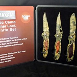 Collectible 4Pc Camo Liner Lock Knife Set