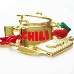 Danecraft Gold-Plated Chili Cookoff Competition Chef Pin Brooch