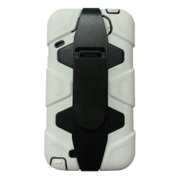 Meaci® Iphone 5C 3 In 1 White Defender Body Armor With Tpu Clip Against Shocks Hard Case
