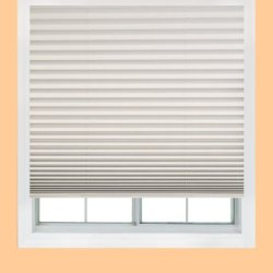 Easy Lift, 36-Inch By 64-Inch, Trim-At-Home (Fits Windows 21-Inches To 36-Inches Wide) Cordless Pleated Shade, Light Blocking, White