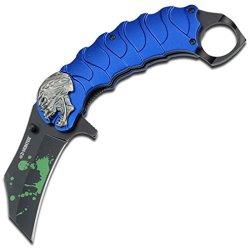 Z Hunter Zb-058Bl Spring Assisted Knife, 5.25-Inch