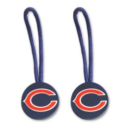 Dl-Z6If-Mgvs - Chicago Bears Zipper Pull Charm Tag Set Luggage Pet Id Nfl