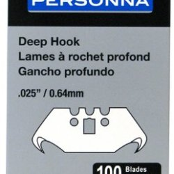 American Safety Razor Co 61-0100 Personna Pro, 100 Pack, .025/.64 Mm, Heavy Duty Deep Hook Blade