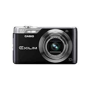 Casio Exilim EX-H5BK 12MP Digital Camera with 10x Zoom with CCD Shift Stabilization and 2.7 inch LCD (Black)