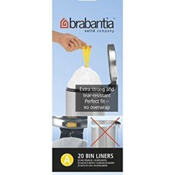 Brabantia Perfect Fit Bags Size A (3 Litre) - 20 Waste Bags Total