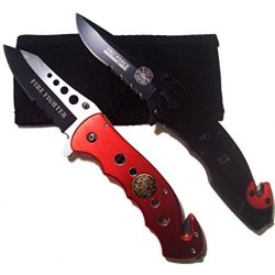 Firefighter First Responder Spring Assist Opening Rescue Knife Gift Set