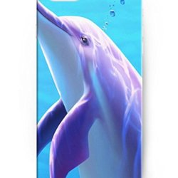 Ukase Hot Selling Fashion Pink Dolphin Back Case Cover For Apple Iphone 6 Plus 5.5Inch