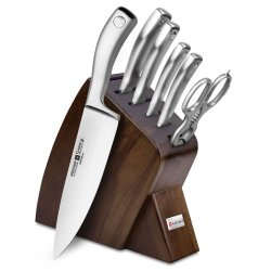 Wusthof Culinar 7-Piece Walnut Slim Knife Block Set