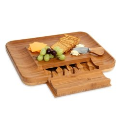 Mercedes Benz Bamboo Cheese Serving Set