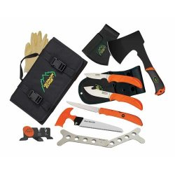 Outdoor Edge Cutlery The Outfitter Hunting Set - Gut-Hook Skinner,Caping Knife, Folding Of-1