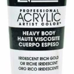 Liquitex Professional Heavy Body Acrylic Paint 2-Oz Tube, Iridescent Rich Gold