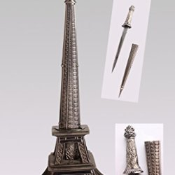"10"" Europe France Paris Metallic Eiffel Tower Dagger Knife Sword Letter Opener Desk Room Model"