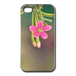Blank Full Protection Pink Small Flower Iphone 4 Cover