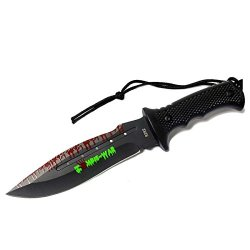"New 9"" Zombie-War Stainless Steel Hunting Knife With Black Handle 8262"