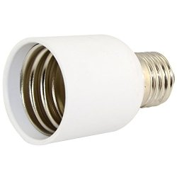 Es Light Bulb Socket E27 To E40 Led Base Screw Lamp Bulb Adapter Converter White